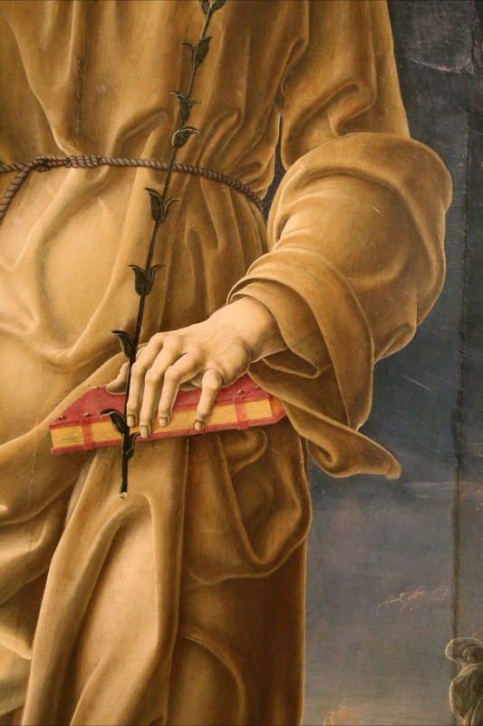 Cosmè tura, sant'antonio da padova, 1484-88 ca. 04 libro - Sailko - Modena (MO)