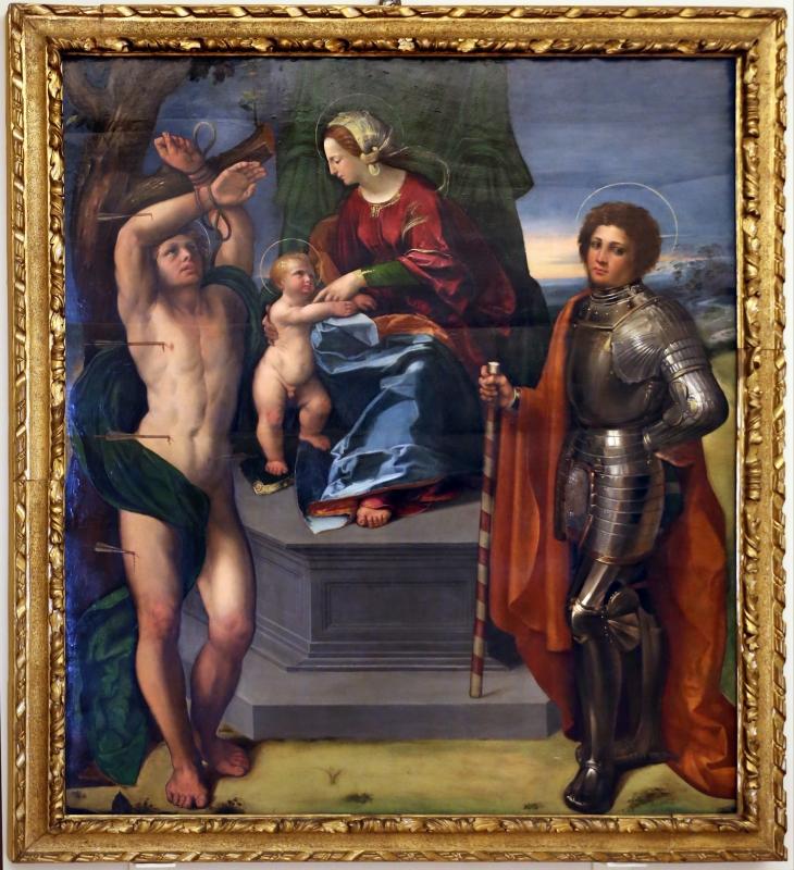 Dosso dossi, madonna coi ss. sebastiano e forse giorgio, 1517-18 ca. 01 - Sailko - Modena (MO)