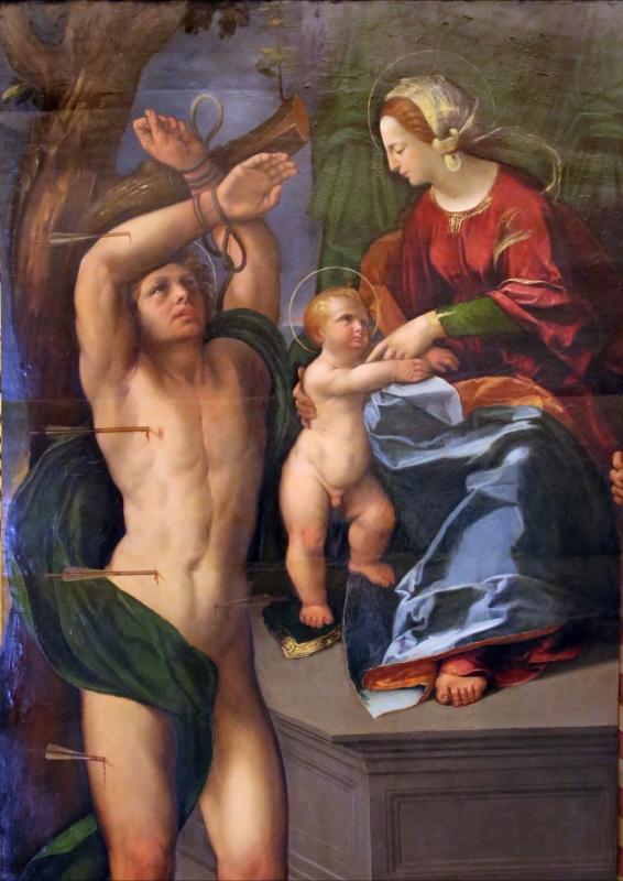 Dosso dossi, madonna coi ss. sebastiano e forse giorgio, 1517-18 ca. 02 - Sailko - Modena (MO)