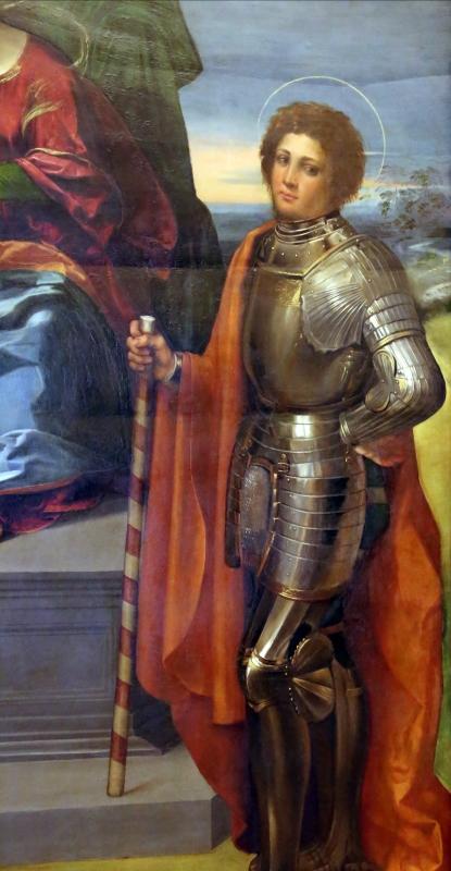 Dosso dossi, madonna coi ss. sebastiano e forse giorgio, 1517-18 ca. 03 - Sailko - Modena (MO)