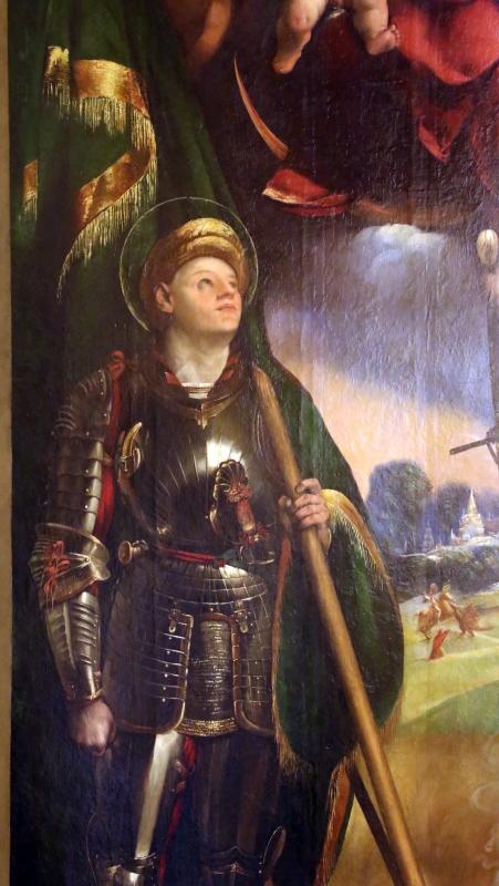 Dosso dossi, madonna col bambino tra i ss. giorgio e michele, 1518-19, 03 - Sailko - Modena (MO)