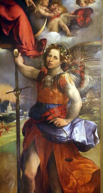 Dosso dossi, madonna col bambino tra i ss. giorgio e michele, 1518-19, 04 - Sailko - Modena (MO)
