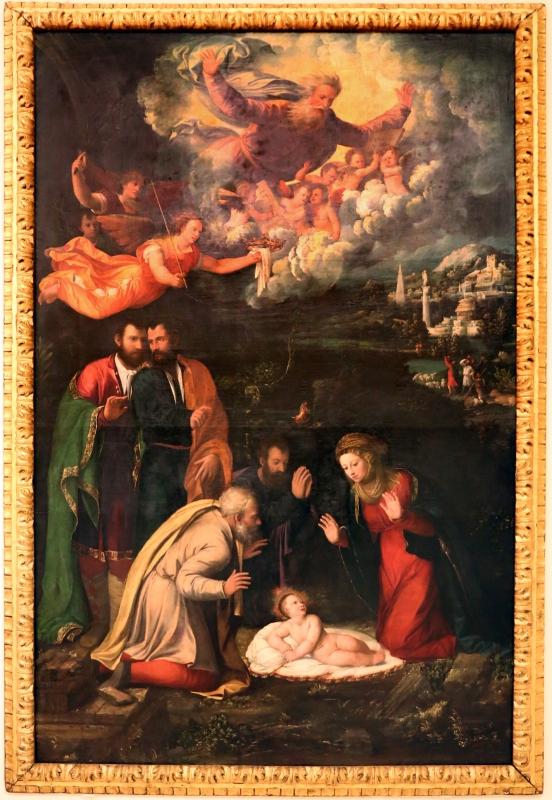 Dosso e battista dossi, adorazione del bambino, 1535-36, 01 - Sailko - Modena (MO)