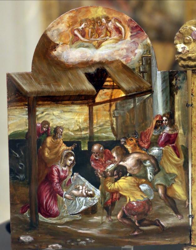 El greco, altarolo portatile, 1567-68, 02 adorazione dei pastori - Sailko - Modena (MO)