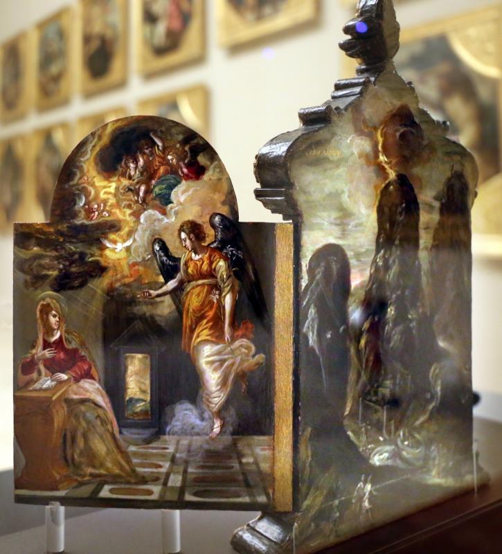 El greco, altarolo portatile, 1567-68, 06 annuncizione - Sailko - Modena (MO)