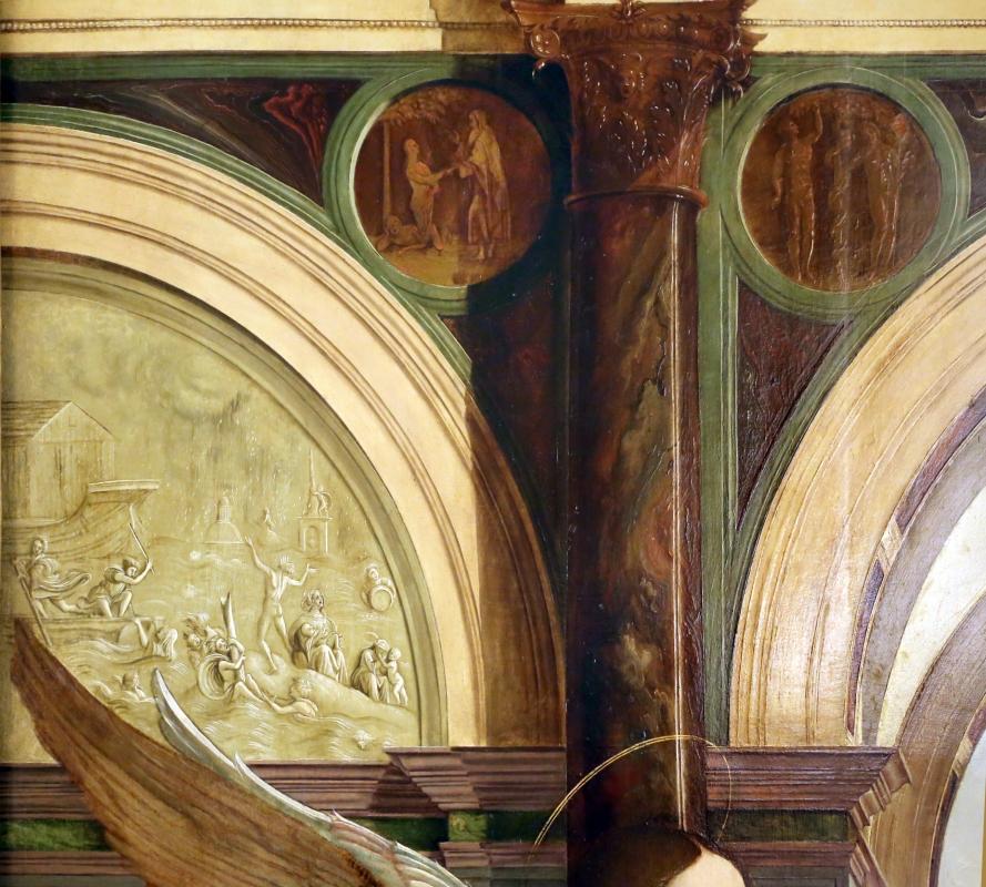 Francesco bianchi ferrari e giovanni antonio scacceri, annunciazione, 1506-12, 02 medaglioni - Sailko - Modena (MO)