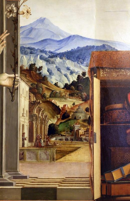 Francesco bianchi ferrari e giovanni antonio scacceri, annunciazione, 1506-12, 04 paesaggio - Sailko - Modena (MO)