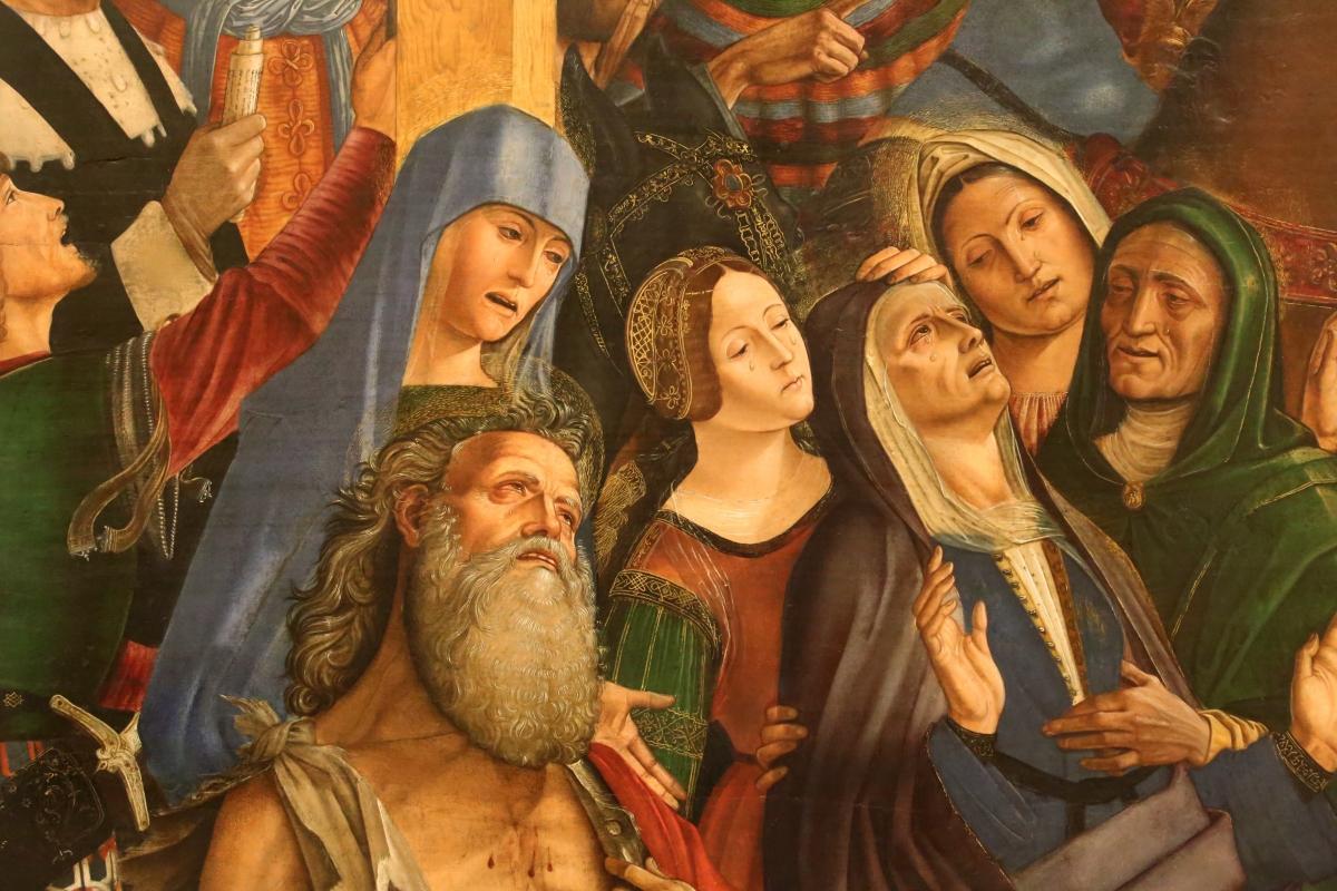 Francesco bianchi ferrari, crocifissione coi ss. girolamo e francesco (pala delle tre croci), 1490-95 ca. 07 - Sailko - Modena (MO)