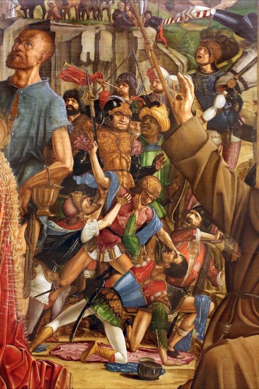 Francesco bianchi ferrari, crocifissione coi ss. girolamo e francesco (pala delle tre croci), 1490-95 ca. 10 - Sailko - Modena (MO)