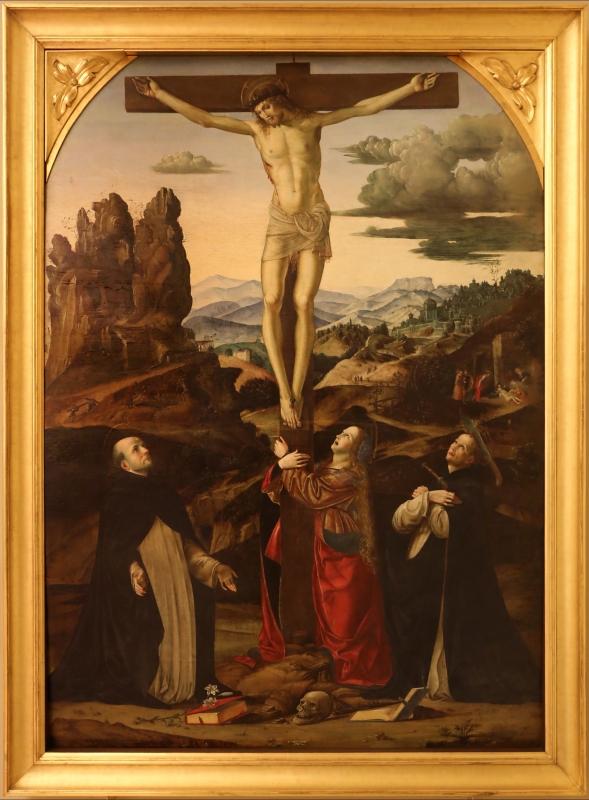 Francesco bianchi ferrari, crocifissione coi ss. maddalena, domenico e pietro martire, 1500-10 ca. 01 - Sailko - Modena (MO)