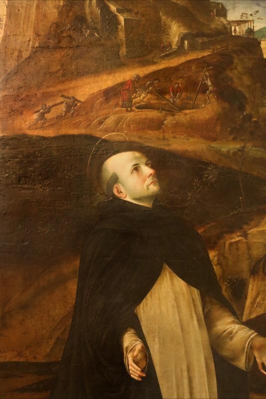 Francesco bianchi ferrari, crocifissione coi ss. maddalena, domenico e pietro martire, 1500-10 ca. 02 - Sailko - Modena (MO)