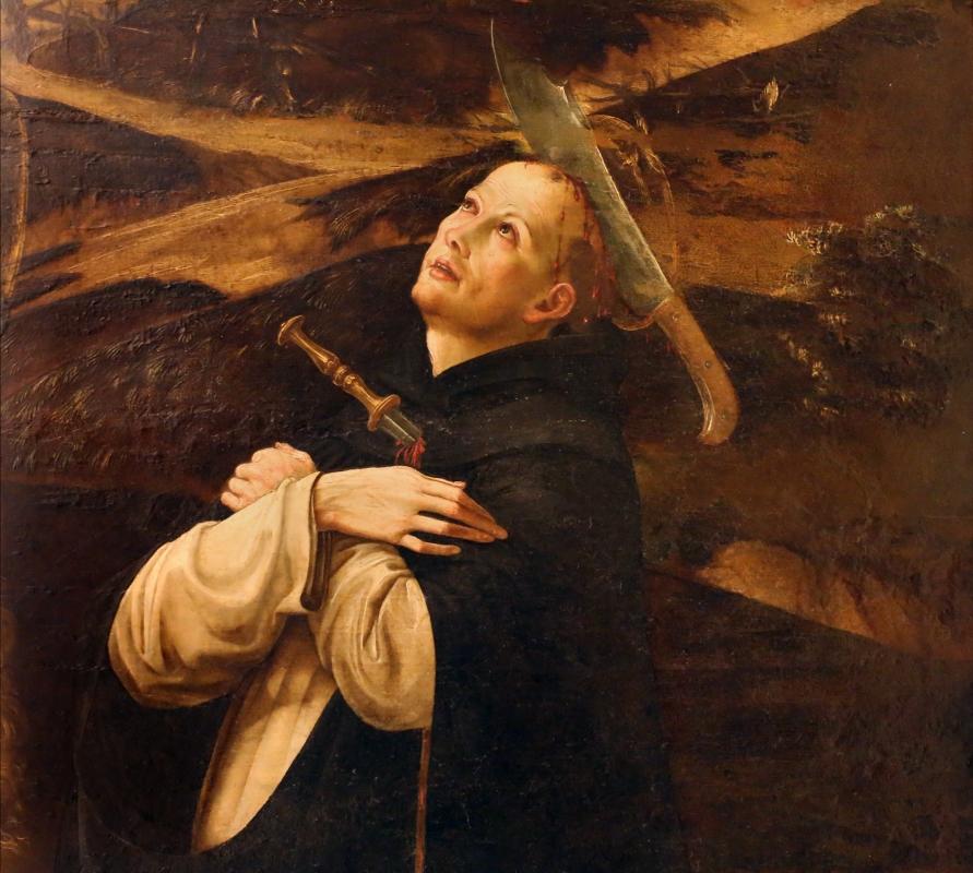 Francesco bianchi ferrari, crocifissione coi ss. maddalena, domenico e pietro martire, 1500-10 ca. 05 - Sailko - Modena (MO)