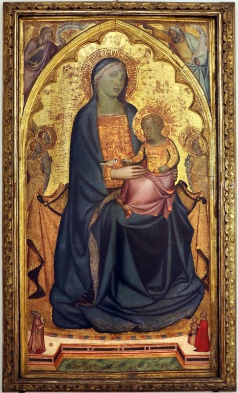 Francesco di neri da volterra, madonna col bambino in trono tra angeli, 1350-55 ca - Sailko - Modena (MO)