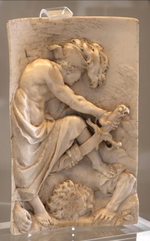 Francis van bossuit, davide decapita golia, avorio, 1655-90 ca - Sailko - Modena (MO)