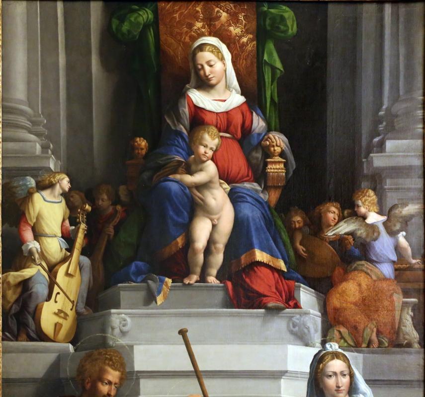 Garofalo, madonna col bambino in trono, angeli e santi, 1533, 02 - Sailko - Modena (MO)