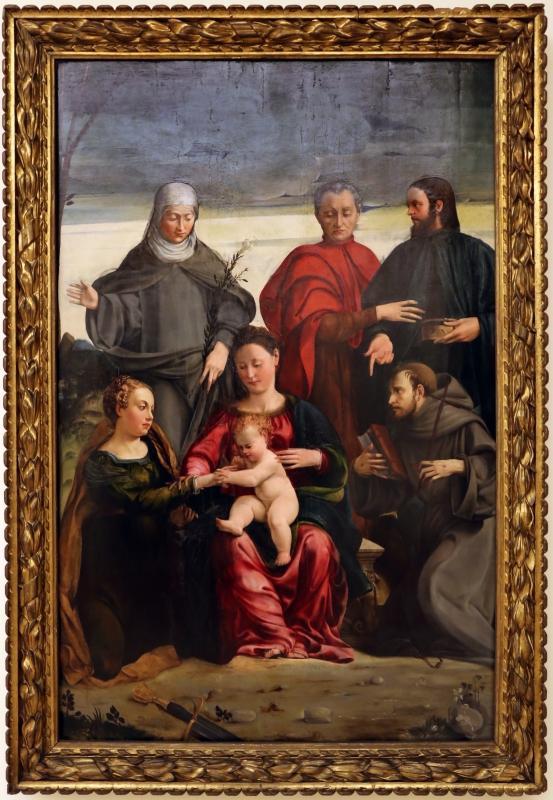 Gaspare pagani, sposalizio mistico di santa caterina, 1541 - Sailko - Modena (MO)
