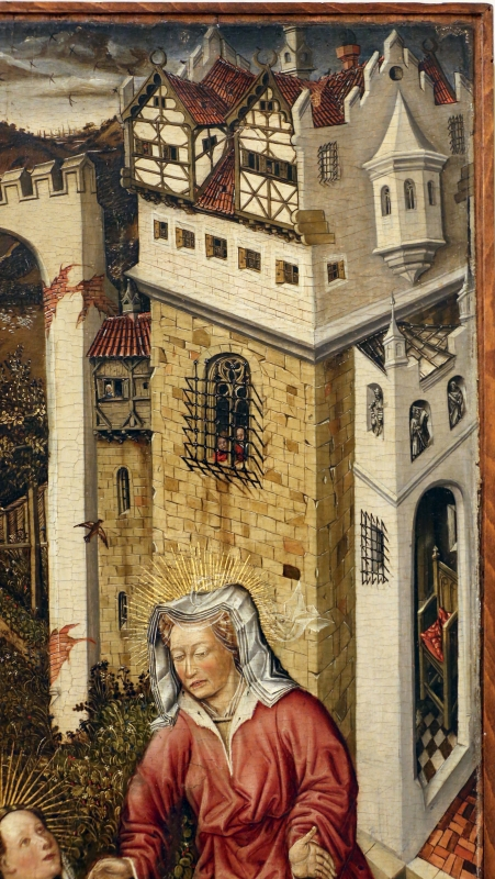 Germania meridionale, annunciazione, ss. margherita e dorotea, visitazione, 1450 ca. 06 - Sailko - Modena (MO)