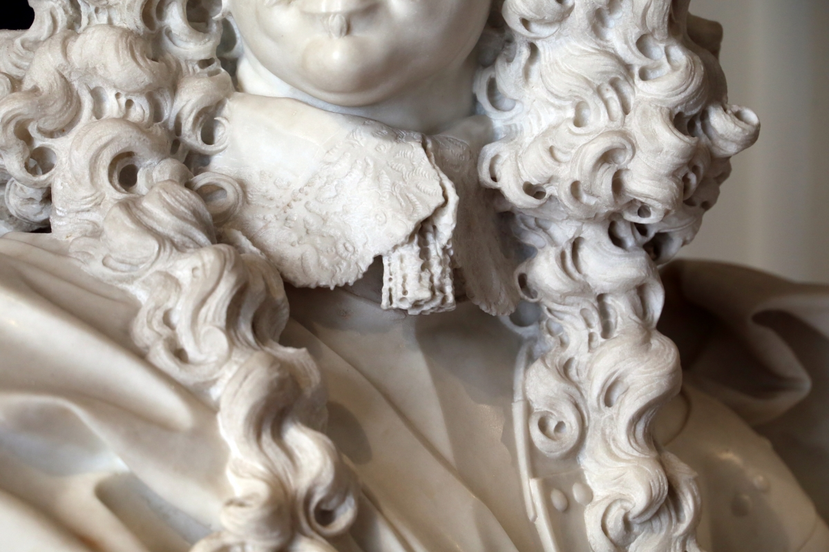Gian Lorenzo Bernini, busto di Francesco I d'Este, 1650-51, 04 colletto - Sailko - Modena (MO)
