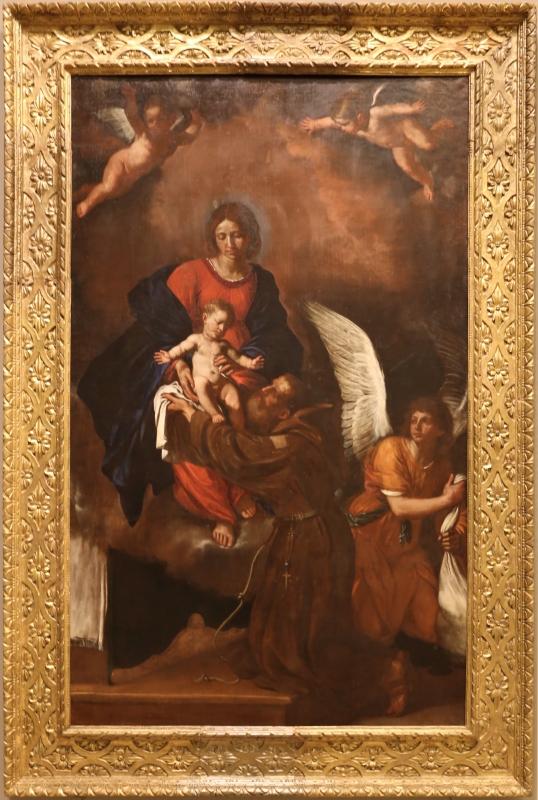 Giovan battista pesari, madonna presenta il bambino al beato felice da cantalice, 1641 - Sailko - Modena (MO)
