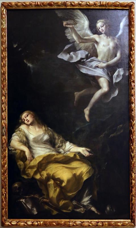 Giovan gioseffo dal sole, maddalena visitata da un angelo con la corona di spine, 1695-1700 ca - Sailko - Modena (MO)