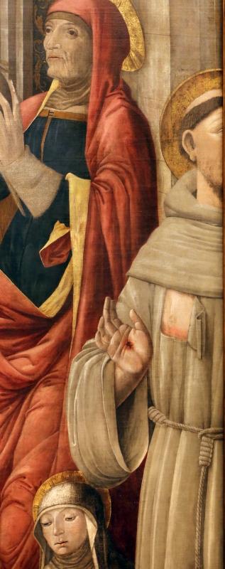 Giovanni antonio bazzi, madonna col bambino e santi, 1480-1500 ca. 04 francesco - Sailko - Modena (MO)