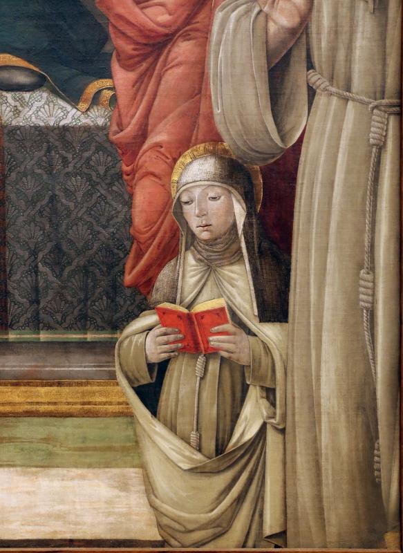 Giovanni antonio bazzi, madonna col bambino e santi, 1480-1500 ca. 05 chiara d'assisi - Sailko - Modena (MO)
