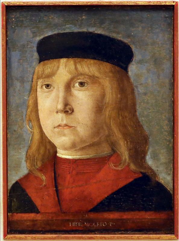 Girolamo mocetto, ritratto di giovinetto, 1490-1500 ca - Sailko - Modena (MO)