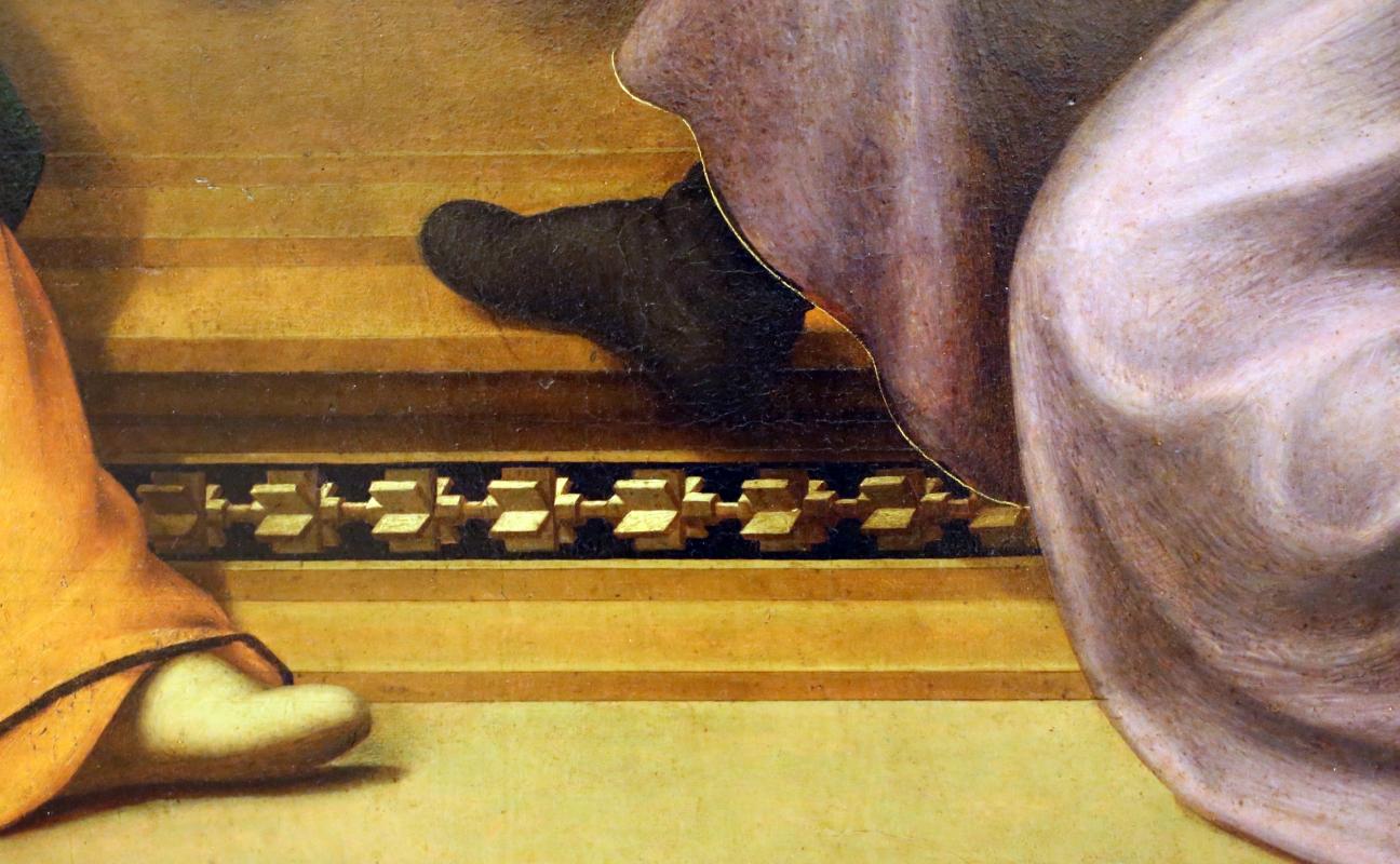 Giuliano bugiardini, nascita del battista, 1517-18, 12 motivo intarsiato - Sailko - Modena (MO)