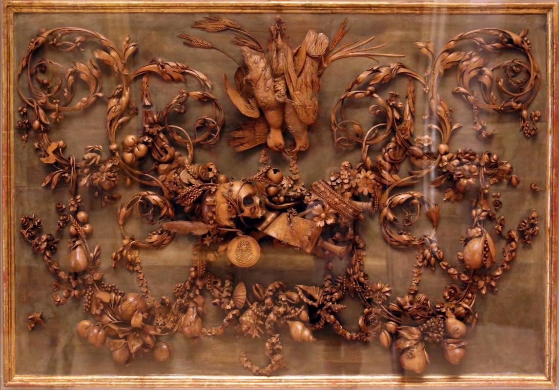 Grinling gibbons, vanitas (allegoria della morte di re carlo II stuart d'inghilterra), 1685 ca. 03 - Sailko - Modena (MO)
