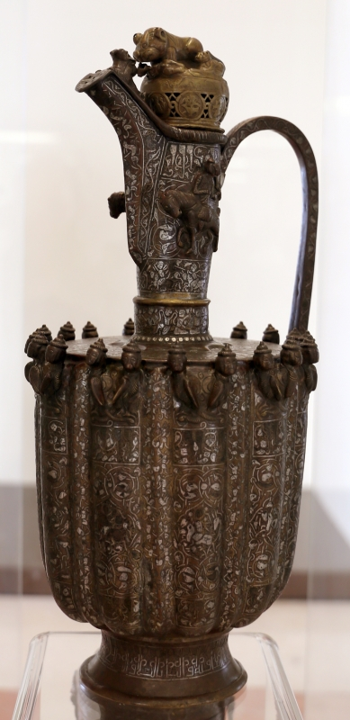 Khorasan, aquamanile in ottone ageminato, xii-xiii secolo - Sailko - Modena (MO)