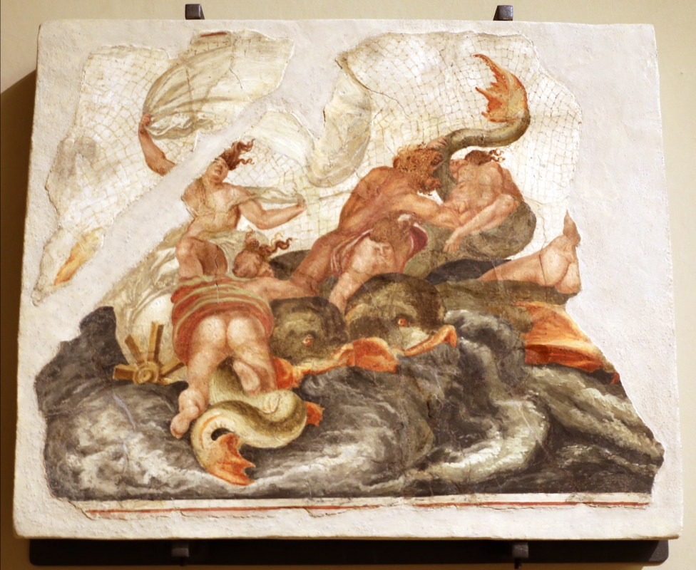 Leolio orsi, frammenti di affreschi dalla rocca di novellara, 1555-56 ca., 04 scena di diluvio con divinità marine - Sailko - Modena (MO)