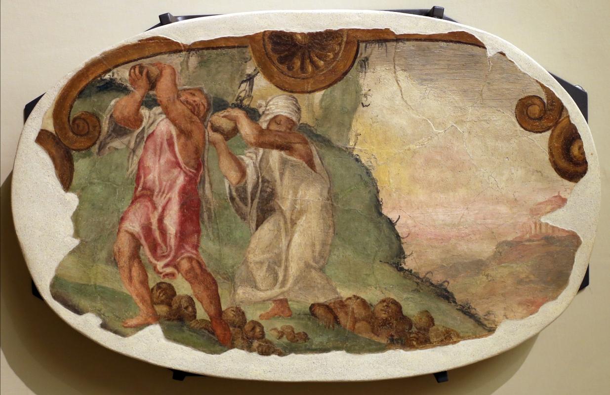 Leolio orsi, frammenti di affreschi dalla rocca di novellara, 1555-56 ca., 08 deucalione e pirra - Sailko - Modena (MO)