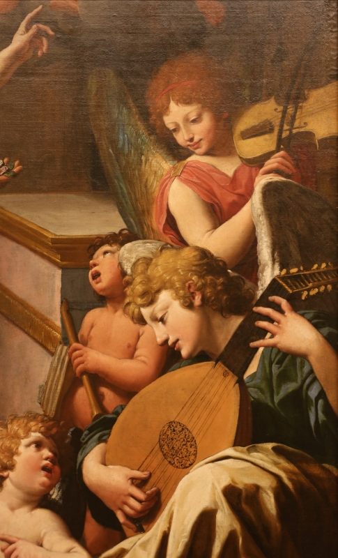 Leonello spada, visione di san francesco d'assisi, 1617-18, 02 angeli musicanti - Sailko - Modena (MO)