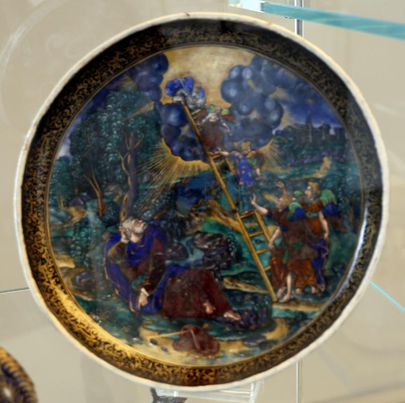 Limoges, coppa col sogno di giacobbe, rame smaltato, xvi secolo, 01 - Sailko - Modena (MO)