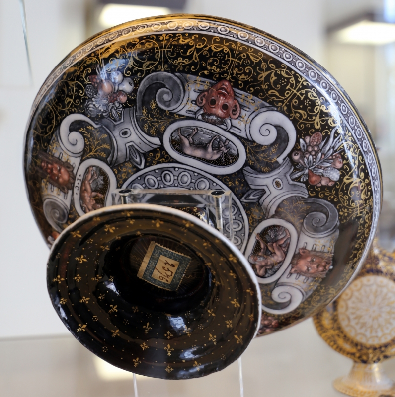 Limoges, coppa col sogno di giacobbe, rame smaltato, xvi secolo, 02 - Sailko - Modena (MO)