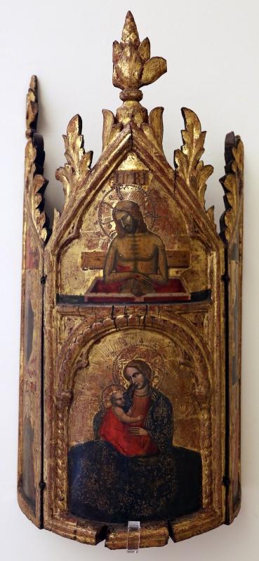 Maestro di torre di palme (attr.), madonna col bambino, cristo nel sepolcro, annunciazione e santi, 1370-1400 ca. 02 - Sailko - Modena (MO)