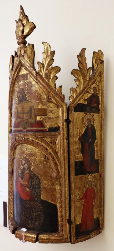 Maestro di torre di palme (attr.), madonna col bambino, cristo nel sepolcro, annunciazione e santi, 1370-1400 ca. 03 - Sailko - Modena (MO)