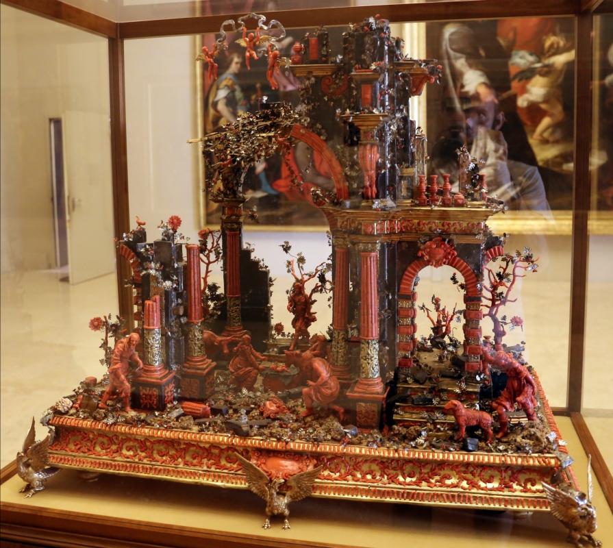 Manifattura trapanese, presepe in corallo, argento, legno e metallo dorato, xviii secolo, 01 - Sailko - Modena (MO)