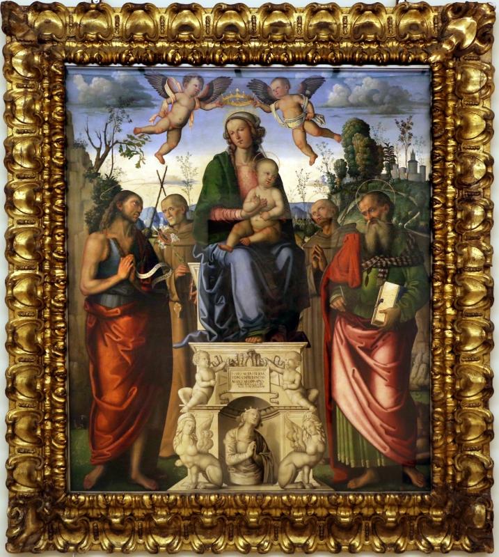 Marco meloni, madobnna col bambino e santi, 1504, 01 - Sailko - Modena (MO)