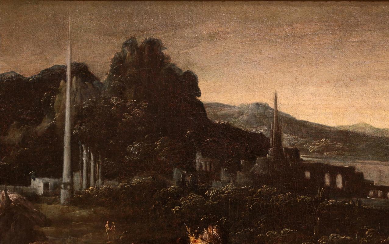 Mastelletta, ritrovamento di mosè, 1618 ca. 02 paesaggio - Sailko - Modena (MO)