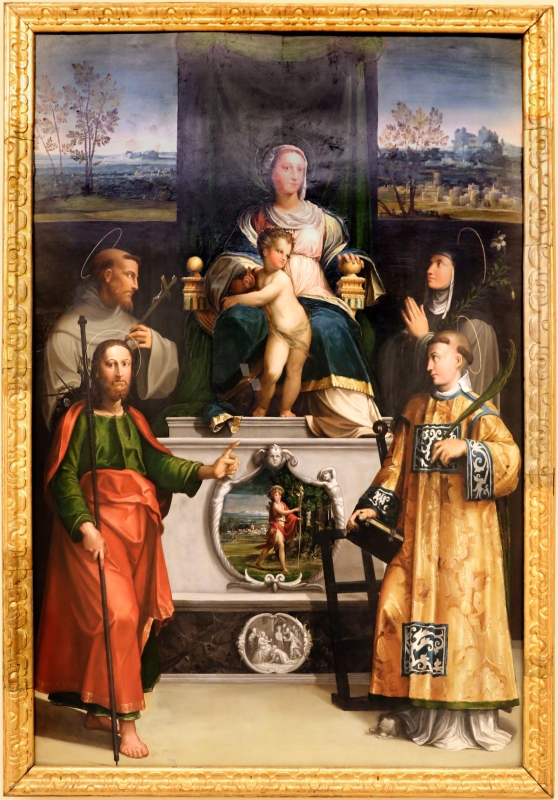 Niccolò dell'abate, madonna in trono col bambino e i ss. francesco, chiara, jacopo e lorenzo, 1540-41 ca. 01 - Sailko - Modena (MO)
