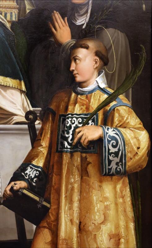 Niccolò dell'abate, madonna in trono col bambino e i ss. francesco, chiara, jacopo e lorenzo, 1540-41 ca. 04 - Sailko - Modena (MO)