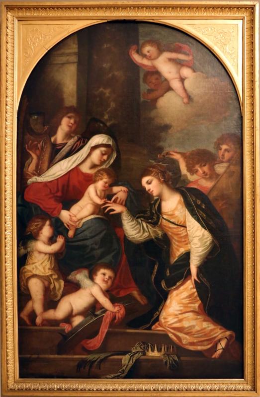 Padovanino, sposalizio mistico di santa caterina d'alessandria, 1640-45 - Sailko - Modena (MO)
