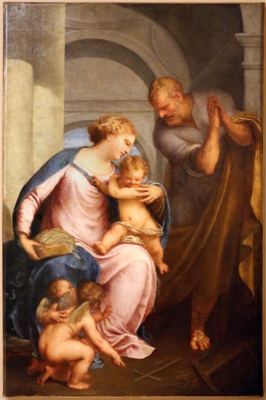 Pietro liberi, sacra famiglia con due angeli che formano una croce, 1652 ca - Sailko - Modena (MO)