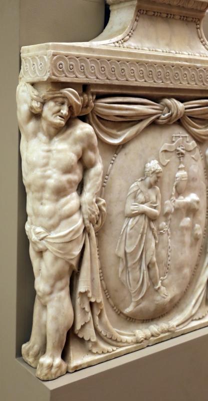 Prospero sogari spani detto il clemente, busto del duca ercole II d'este con base con allegoria della pazienza, 1554, 04 - Sailko - Modena (MO)