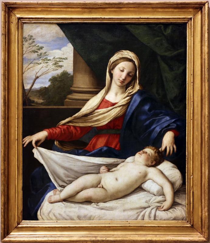 Sassoferrato, madonna col bambino dormiente (madonna del velo), 1650-60 ca - Sailko - Modena (MO)