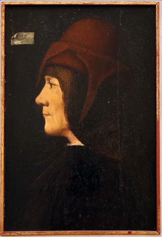 Scuola lombarda, ritratto d'uomo di profilo, 1490-1500 ca - Sailko - Modena (MO)