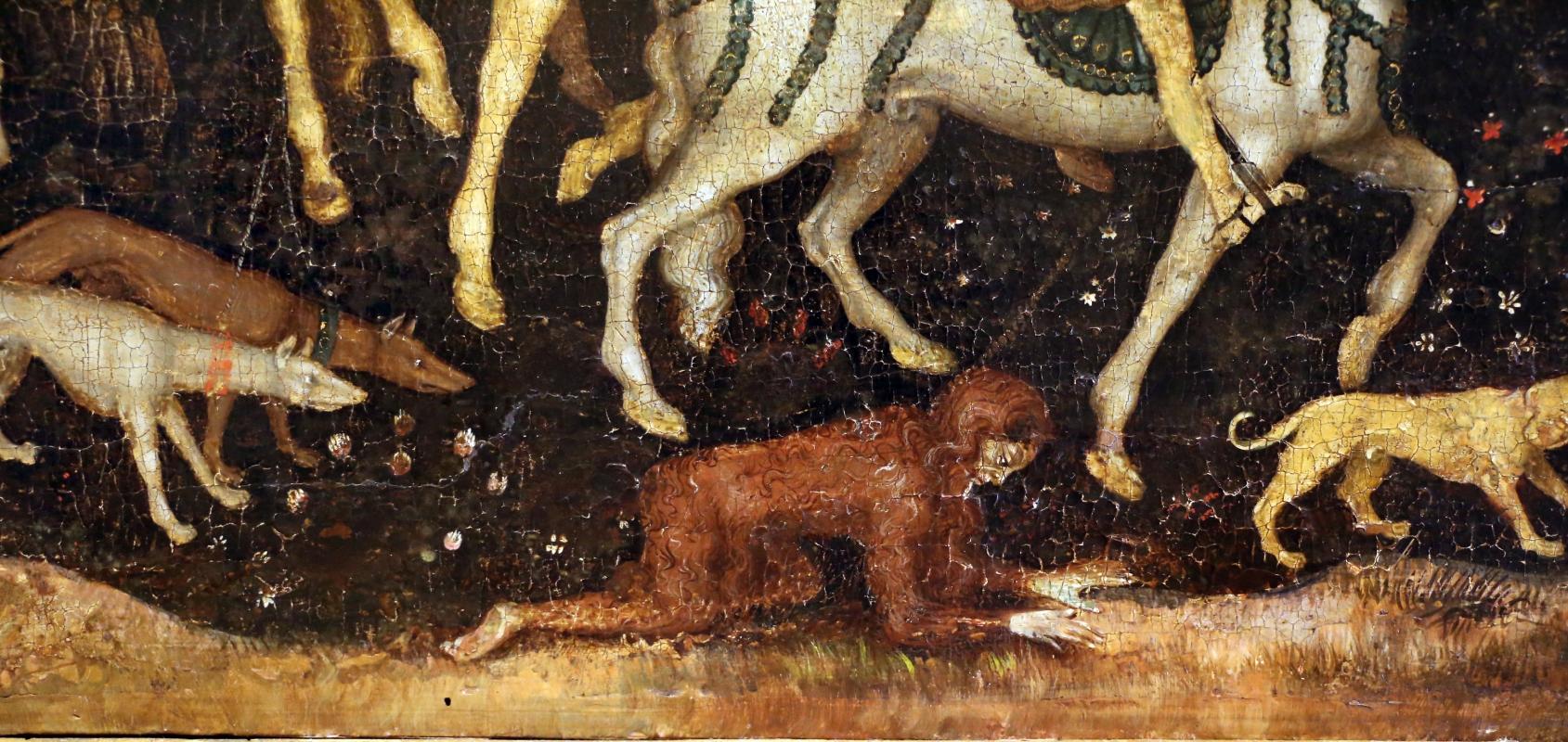 Secondo maestro di carpi, leggenda di san giovanni boccadoro (crisostomo), 1430 ca. 06 uomo selvaggio - Sailko - Modena (MO)