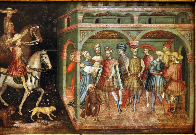 Secondo maestro di carpi, leggenda di san giovanni boccadoro (crisostomo), 1430 ca. 09 - Sailko - Modena (MO)