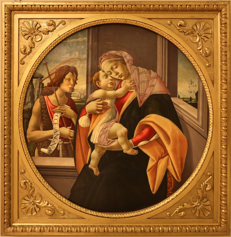 Seguace del botticelli, madonna col bambino e san giovannino, 1475-1500 ca - Sailko - Modena (MO)